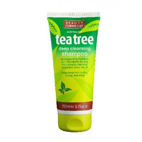 Beauty Formulas Tea Tree Deep Cleansing Shampoo 200ml/6.75oz