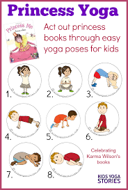 Princess Yoga Act Out Books Through Easy Poses For Kids