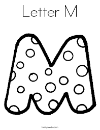 Letter M Coloring Pages Twisty Noodle