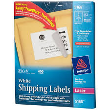 5 X 3 1 2 Avery White Labels 5168