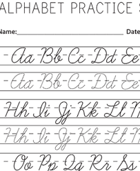 Best solutions Cursive Alphabet Practice Easy Uppercase Cursive