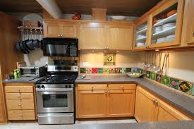Amazing Beige Mid Century Kitchen Cabinetry With Modern Set And Grey Countertop Upper Cabinet