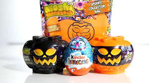 Glow In The Dark Plastic Pumpkins by Halloween Edition Surprise Eggs Kinder Surprise Moshi Monsters