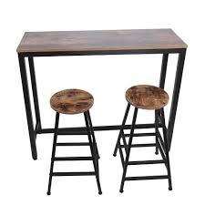 Amazon.com: 3 Piece Bar Table Chair Set, Vintage 42.5