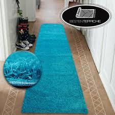 moderne halle läufer weich shaggy teppich 5cm türkis breite
