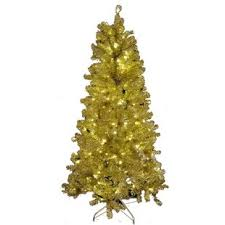 6 Gold Tinsel Tree By Queens Of Christmas