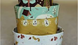Decorating Fabric Storage Bins by Household Storage Bins Free Sewing Tutorial Patternpile Com