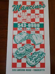 Mancino s Pizza & Grinders Menu Urbanspoon Zomato
