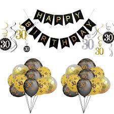 BRT Bearings 60th Birthday Decorations Balloon Banner Happy Birthday Banner 60th Gold Number Balloons Black And Gold Number 60 Birthday Balloons