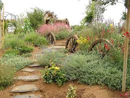 Rustic Garden Art Magnificent Butterfly Bush Convention Southwestern Landscape Image Ideas With Hillside Mass