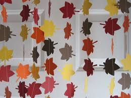 Thanksgiving Classroom Door Decorations Pinterest by Fall Garland Leave Garland Autumn Decorations Thanksgiving