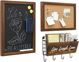 chasbete pinnwand kork tafel schlüsselbrett mit haken wand schlüssel organizer memoboard für eingang büro flur küche