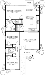 European Style House Plan 3 Beds 2 00 Baths 1200 Sqft 80 132 Sq Ft
