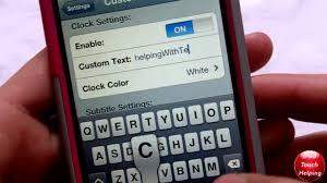 Change Lockscreen Time to Custom Text on iPhone iPod Touch iPad