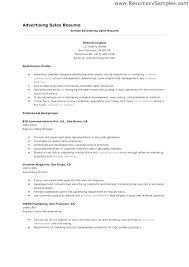 Resume Examples Sales Advertising Sample Executive Bank