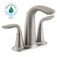 Home Depot Bathroom Faucets by Kohler Worth 4 In Centerset 2 Handle Bathroom Faucet In Vibrant