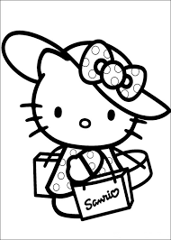 Free Hello Kitty Coloring Pages Detail Description