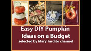 Dryer Vent Pumpkins Tutorial by Easy Diy Pumpkin Ideas On A Budget Youtube