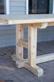 Build Your Own H Leg Dining Table With These DIY Plans
