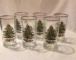 Spode Christmas Tree Highball Glasses by Tree Glasses Etsy