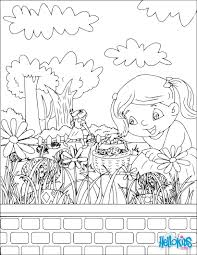 Chocolate Egg Hunt Coloring Page