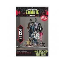 Scene Setters Halloween by Halloween Zombies Scene Setter Add Ons Plastic Decorations 1 65m X