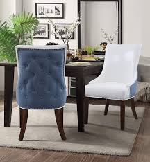 Iconic Home Brando Dining Side Accent Chair Pebble Grain PU Leather Linen  Upholstered Nailhead Trim Tapered Solid Birch Legs Modern Transitional Set  ... 51 Grey Ding Rooms With Tips To Help You Decorate And Charlie Swoop Arm Chair Image 2 Of 3 Bridal Booth Silver Velvet Accent With Nailhead Trim Pier 1 Cheap Upholstered Find Home Designing Iconic Home Gourdon Plush Gold Tone Solid Metal Legs Details About New Urban Style Chairs Sofa Side W Wood Fniture Lyric Counter Stool Tufted Seat Tapered Amazoncom Lattice Indigo Kitchen Ottoman 3d Product Models Herman Miller Leather Deals