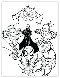 Ultimate Spider Man Coloring Pages Free Download Amazing Color Spiderman Pdf Venom Full Size