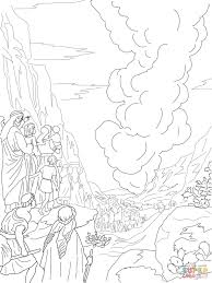 Pillar Of Fire And Cloud Coloring Page | Free Printable Coloring Pages
