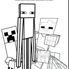 Minecraft Coloring Pages Inspirationa Craft Best Mine