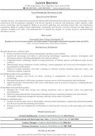 Warrant Officer Resume Examples Entry Level Police Army Example