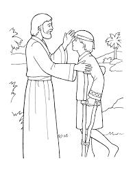 Coloring Page Jesus Heals A Lame Boy
