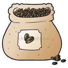 Cartoon Sack Coffee Beans