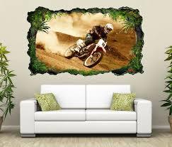 3d wandtattoo motocross motorrad rennen cross selbstklebend wandbild wohnzimmer wand aufkleber 11l1719