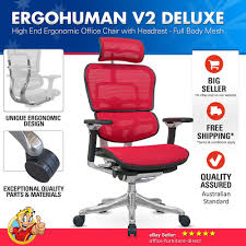 Ergonomic Kneeling Chair Australia by Ergohuman V2 Deluxe Chair High Back Mesh Ergonomic Office Chairs