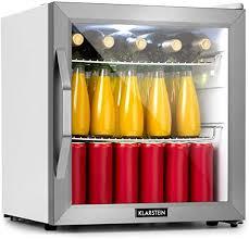klarstein beersafe l minibar mini kühlschrank getränkekühlschrank leise 42 db edelstahl glastür 5 stufiger temperaturregler 2 einschübe 47