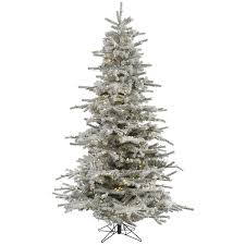 85 Foot Flocked Sierra Tree With 700 Warm White LED Lights