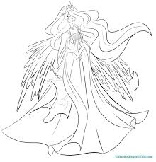 My Little Pony Princess Celestia Coloring Pages 107 Of Luna