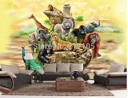 brauch stereoskopische 3d tapete safari für kinder wohnzimmer tv hintergrund 3d wallpaper wohnkultur vinyltapeten