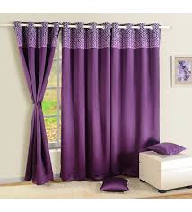 Faux Silk Eyelet Curtains by Buy Purple Faux Silk Solid Blackout Eyelet Curtain By Swayam