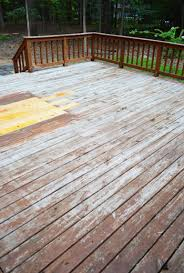 how to strip clean a deck for stain young house love