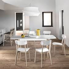 CREAM Is A Rectangular Extendable Wooden Dining Table Suitable For