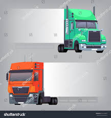 Trucks Nondimensional Side Banner That Can Stock Vector (Royalty ...