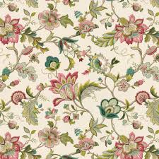 Jacobean Style Floral Curtains by Pink U0026 Blue Jacobean Floral Linen Fabric 18in Living Room