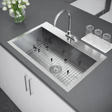 33x22 Stainless Steel Sink by Exclusive Heritage 33 U2033 X 22 U2033 Single Bowl Topmount Stainless Steel