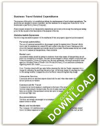 Travel Expense Policy Corporate Credit Card For