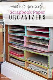 DIY Scrapbook Paper Organizer using our 14″ x 14″ x 4″ Cardboard