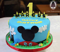 Best Cake Decorating Blogs by Mickey Mouse 1st Birthday Cake Cake Expectations U2013 Www