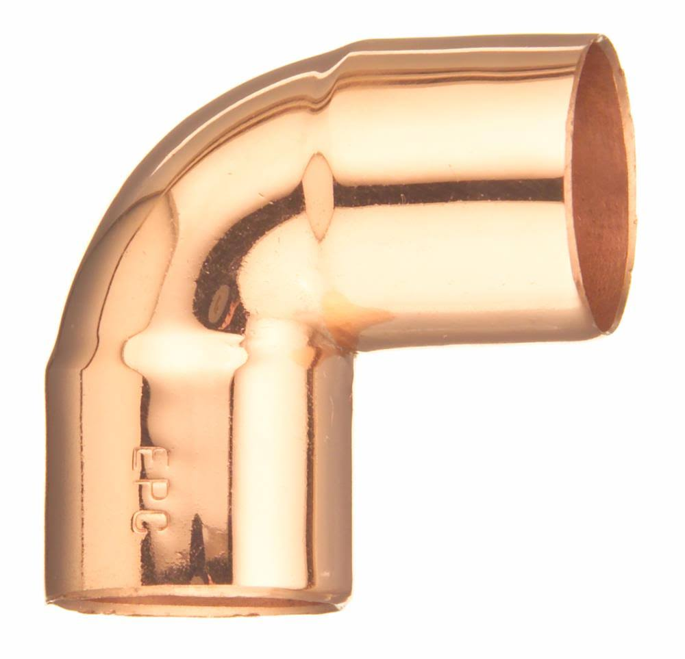 Elkhart Elbow Close Ruff - Copper, 90 Degree, 0.5""
