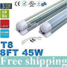 8ft led 45w 8 t8 led lights integrated 2400mm led